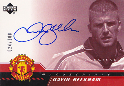 2001 Upper Deck Manchester United Manuscripts David Beckham Autograph