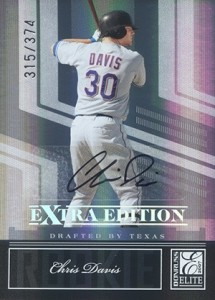 2007 Donruss Elite Extra Edition Chris Davis Autograph