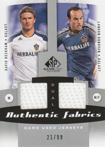 2011 SP Game Used Authentic Fabrics David Beckham Landon Donovan