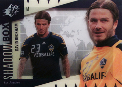 2011 Upper Deck World of Sports Shadow Box David Beckham