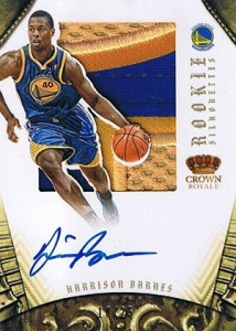 2012-13 Panini Preferred Rookie Silhouettes Prime 348 Harrison Barnes