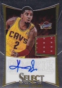 2012-13 Select Kyrie Irving Autographed Jersey RC