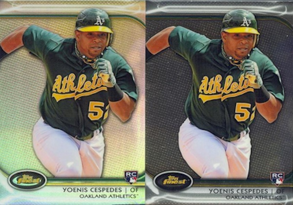 2012 Topps Finest Refractor Comparison