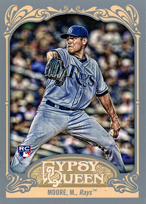 Matt Moore Cards - 2012 Topps Gypsy Queen RC