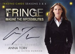 2013 Cryptozoic Fringe Seasons 3 and 4 Autographs A1 Anna Torv as Olivia