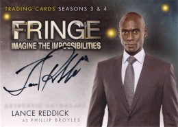 2013 Cryptozoic Fringe Seasons 3 and 4 Autographs Guide 3