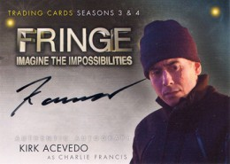 2013 Cryptozoic Fringe Seasons 3 and 4 Autographs Guide 7