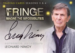 2013 Cryptozoic Fringe Seasons 3 and 4 Autographs A9 Leonard Nimoy