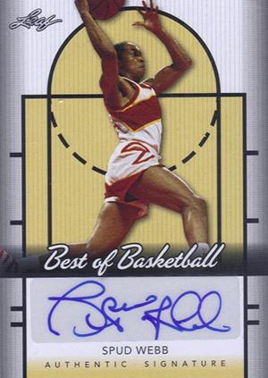2013 Leaf Best of Basketball Autographs Spud Webb