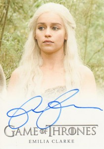 2013 Rittenhouse Game of Thrones Season 2 Autographs Emilia Clarke