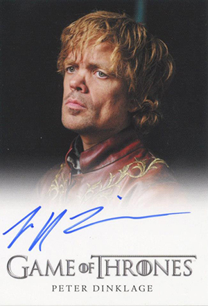 2013 Rittenhouse Game of Thrones Season 2 Peter Dinklage Autograph