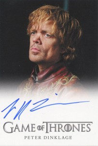 2013 Rittenhouse Game of Thrones Season 2 Autographs Peter Dinklage