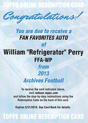 2013 Topps Archives Football Fan Favorites Autographs Guide
