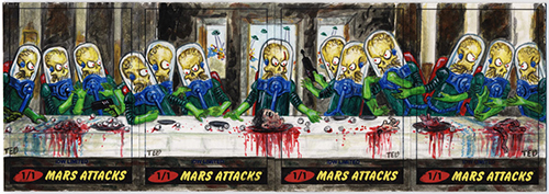 2013 Topps Mars Attacks IDW Limited Ted Dastick Jr sketch cards