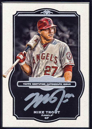 2013 Topps Museum Collection Baseball Framed Autograph Black Mike Trout