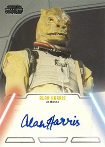 2013 Topps Star Wars Jedi Legacy Autographs Alan Harris as Bossk