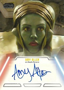 2013 Topps Star Wars Jedi Legacy Autographs Showcase 10