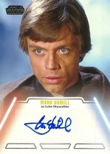 2013 Topps Star Wars Jedi Legacy Autographs Mark Hamill as Luke Skywalker