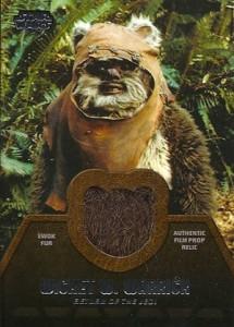 2013 Topps Star Wars Jedi Legacy Relics ER-1 Ewok Fur