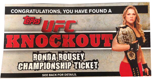 Surprise Ronda Rousey Autograph Cards, Belts in 2013 Topps UFC Knockout 3