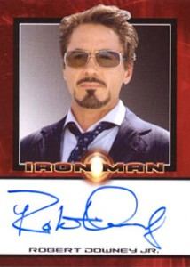Iron Man Autographs Trading Card Guide 2