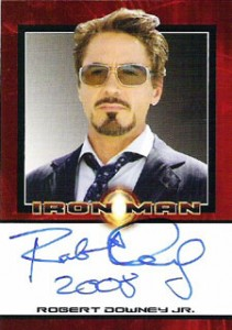 Iron Man Autographs Trading Card Guide 3