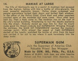 1940 Gum Inc. Superman Trading Cards 2