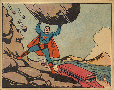 1940 Gum Inc. Superman Trading Cards 21