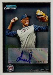 2010 Bowman Chrome Wrapper Redemption Autograph Miguel Sano
