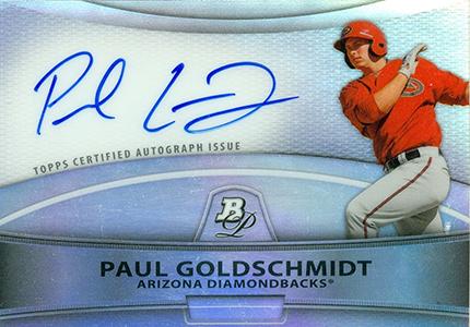 2010 Bowman Platinum Paul Goldschmidt Autograph