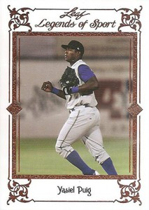 2012 Leaf Legends of Sport Yasiel Puig
