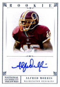 2012 Panini National Treasures Alfred Morris RC