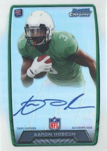 2013 Bowman Football Rookie Chrome Refractor Autographs Guide 41