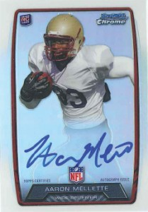 2013 Bowman Football Rookie Chrome Refractor Autographs Guide 42