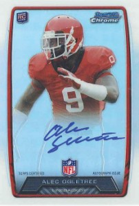 2013 Bowman Football Rookie Chrome Refractor Autographs Guide 43