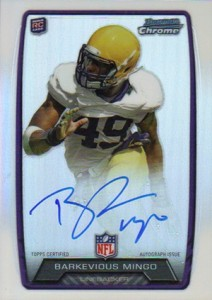 2013 Bowman Football Rookie Chrome Refractor Autographs Guide 44