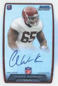 2013 Bowman Football Rookie Chrome Refractor Autographs Guide 8