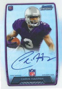 2013 Bowman Football Rookie Chrome Refractor Autographs Guide 6