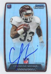 2013 Bowman Football Rookie Chrome Refractor Autographs Guide 46