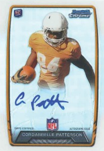 2013 Bowman Football Rookie Chrome Refractor Autographs Guide 7