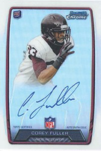 2013 Bowman Football Rookie Chrome Refractor Autographs Guide 45