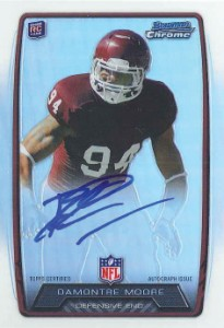 2013 Bowman Football Rookie Chrome Refractor Autographs Guide 50