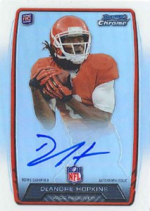 2013 Bowman Football Rookie Chrome Refractor Autographs Guide 9
