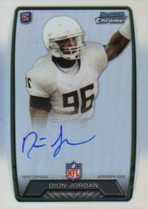 2013 Bowman Football Rookie Chrome Refractor Autographs Guide 10
