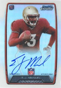 2013 Bowman Football Rookie Chrome Refractor Autographs Guide 14