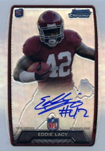 2013 Bowman Football Rookie Chrome Refractor Autographs Guide 53