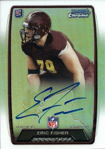 2013 Bowman Football Rookie Chrome Refractor Autographs Guide 54