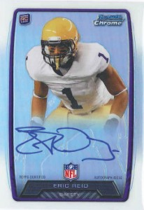 2013 Bowman Football Rookie Chrome Refractor Autographs Guide 15