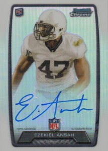 2013 Bowman Football Rookie Chrome Refractor Autographs Guide 13
