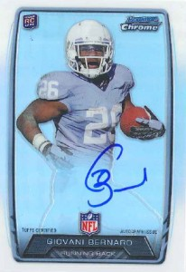 2013 Bowman Football Rookie Chrome Refractor Autographs Guide 55